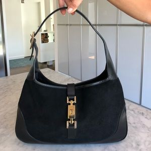 Gucci Jackie O Black Leather/Suede Bag